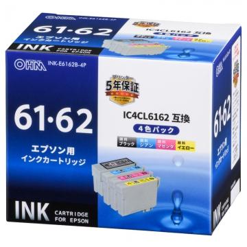 エプソン互換 IC4CL6162 顔料4色 [品番]01-4108