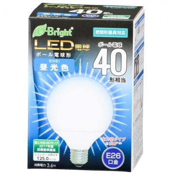 LED電球 ボール形 40形相当 E26 昼光色 [品番]06-3377