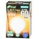 LED電球 ボール形 60形相当 E26 電球色 [品番]06-3378