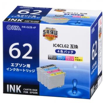 エプソン互換 IC4CL62 顔料4色 [品番]01-4107