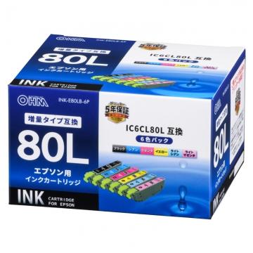 エプソン互換 IC6CL80L 染料6色 [品番]01-4144