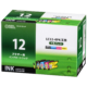 ブラザー互換 LC12-4PK 顔料ブラック+染料3色 [品番]01-4181