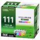 ブラザー互換 LC111-4PK 顔料ブラック+染料3色 [品番]01-4186