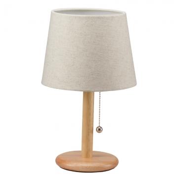 洋風テーブルスタンド 木製 ナチュラル電球別売 [品番]06-1396