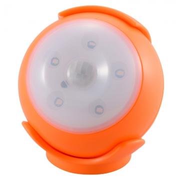 LEDセンサーライト 人感・明暗 オレンジ 黄色LED [品番]06-1623