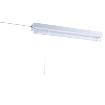 L形ピン直管LEDランプ付照明器具 20W形/昼白色 コンセントタイプ [品番]07-8489