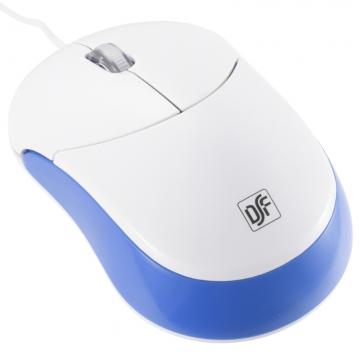 静音3ボタンマウス ホワイト/ブルー [品番]01-3752