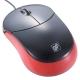 静音3ボタンマウス ブラック/レッド [品番]01-3753