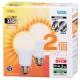 LED電球 E26 40形相当 電球色 2個入 [品番]06-0615