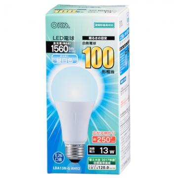 LED電球 100形相当 E26 昼白色 広配光 密閉器具対応 [品番]06-3289