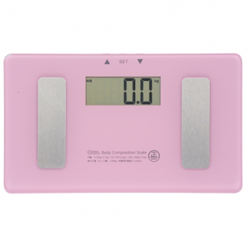 体重体組成計 小型 ピンク [品番]08-0096