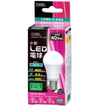 LED電球 小形 E17 40形相当 昼白色 [品番]06-0614