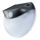 monban LEDセンサーウォールライト ソーラー発電式 黒 [品番]07-8257