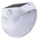 monban LEDセンサーウォールライト ソーラー発電式 白 [品番]07-8258