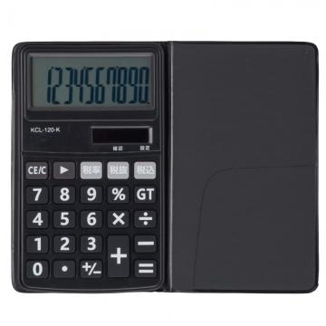 電卓 ソーラー 10桁 手帳サイズ 黒 [品番]07-9952