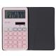 電卓 ソーラー 10桁 手帳サイズ ピンク [品番]07-9953
