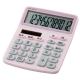 電卓 ソーラー 12桁 手帳サイズ ピンク [品番]07-9957