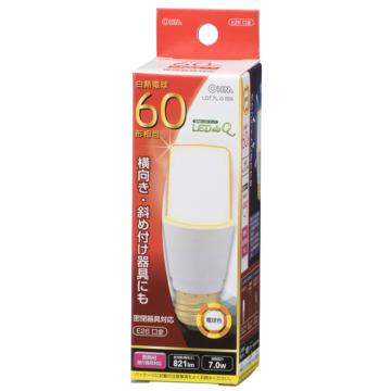 LED電球 T形 E26 60形相当 電球色 [品番]06-0231