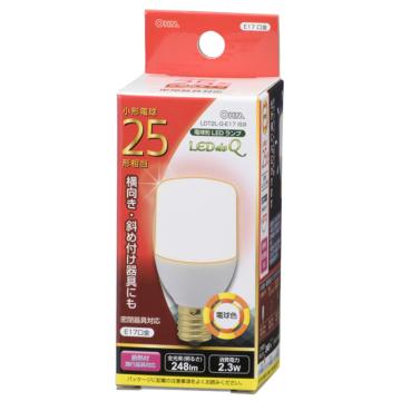 LED電球 T形 E17 25形相当 電球色 [品番]06-0297