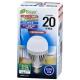 LED電球 一般電球形 20形相当 E26 昼光色 センサー [品番]06-3116