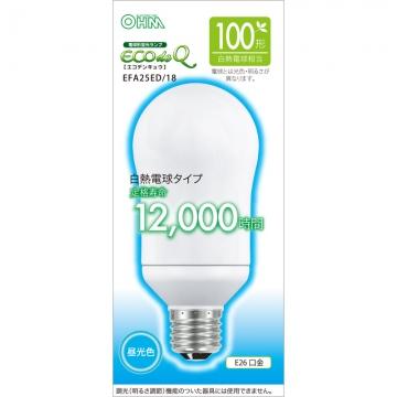 電球形蛍光灯 E26 100形相当 昼光色 エコデンキュウ [品番]06-0286