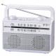 AudioComm ラジオ付耳元スピーカー ホワイト [品番]07-9806