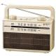 AudioComm ラジオ付耳元スピーカー シャンパンゴールド [品番]07-9807