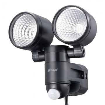 LEDセンサーライト コンセント式 2灯 [品番]07-8726