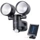 LEDセンサーライト ソーラー発電式 2灯 [品番]07-9922