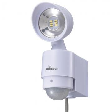 monban LEDセンサーライト コンセント式 1灯 [品番]07-8216