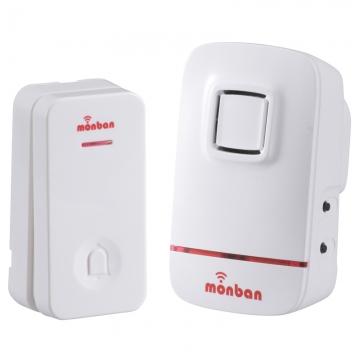 monban ワイヤレスコールチャイム 押しボタン送信機+AC式受信機 [品番]08-0520
