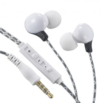 AudioComm ステレオイヤホン リモコン付 グレー [品番]03-0381