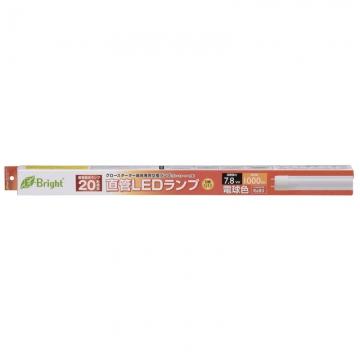 直管LED 20形相当 G13 電球色 [品番]06-0681
