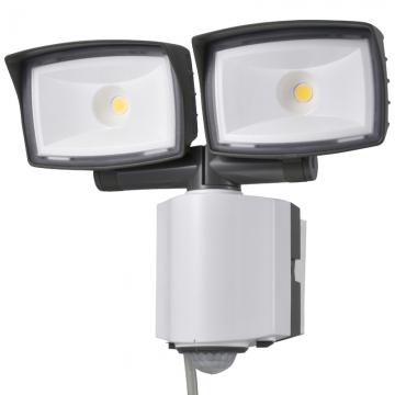 LEDセンサーライト 多機能型 2灯 コンセント式 [品番]07-6386