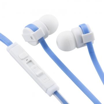 AudioComm スマートフォン専用イヤホン マイク・リモコン付 ブルー [品番]03-0379