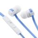 AudioComm ステレオイヤホン リモコン付 ブルー [品番]03-0379
