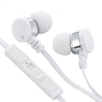 AudioComm ステレオイヤホン リモコン付 シルバー [品番]03-0386