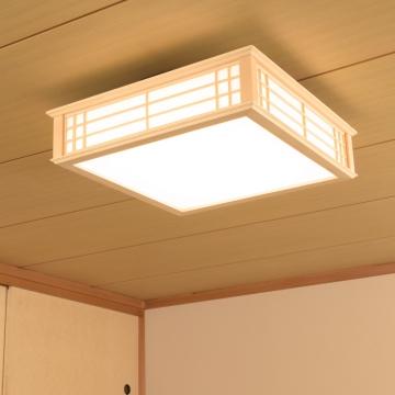 LED和風シーリングライト 調光 12畳用 電球色 [品番]06-0655
