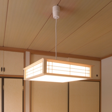 LED和風ペンダントライト 調光 8畳用 電球色 [品番]06-0661