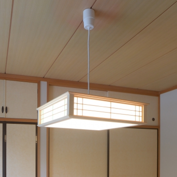 LED和風ペンダントライト 調光 8畳用 昼光色 [品番]06-0662
