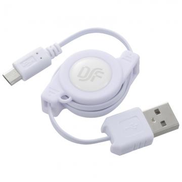 USBケーブル USB-マイクロB 巻取式 [品番]01-3732