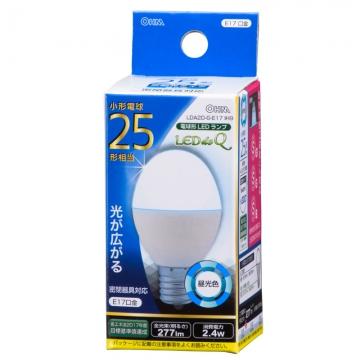 LED電球 小形 E17 25形相当 昼光色 [品番]06-0762