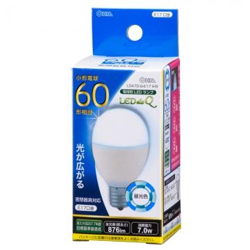 LED電球 小形 E17 60形相当 昼光色 [品番]06-0766