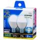 LED電球 小形 E17 25形相当 昼光色 2個入 [品番]06-0778