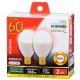 LED電球 小形 60形相当 E17 電球色 2個入 [品番]06-0781