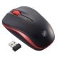 静音ワイヤレスマウス IR LED Mサイズ ブラック/レッド [品番]01-3586