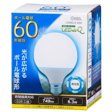 LED電球 ボール電球形 60形相当 昼光色 [品番]06-0758
