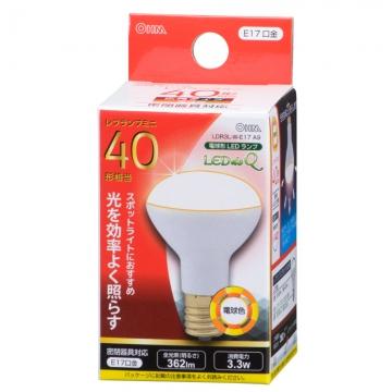 LED電球 ミニレフランプ形 40形相当 E17 電球色 [品番]06-0767
