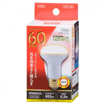 LED電球 レフランプ形 60形相当 E26 電球色 [品番]06-0771