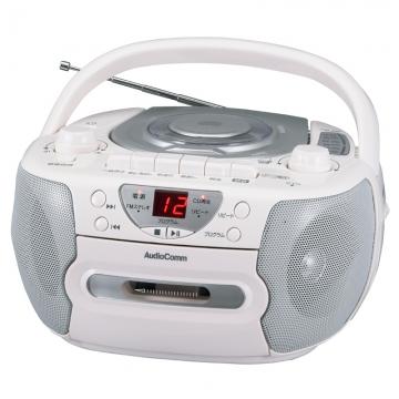 AudioComm CDラジカセ シルバー [品番]07-7793